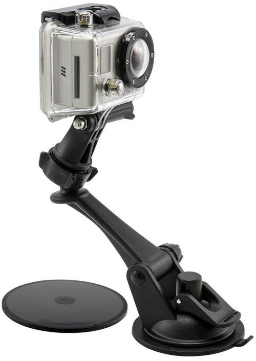 Arkon Black GoPro Mount - Sticky Suction Mount with Adjustment Knob for GoPro HERO (GN079 + SP-SB-GPLAT + AP013)