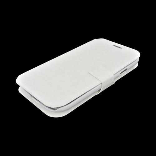 Geeks Protection Line (GPL) Swanky Samsung Galaxy S3 Diary Flip Cover Hard Case Stand w/ ID Slots - White