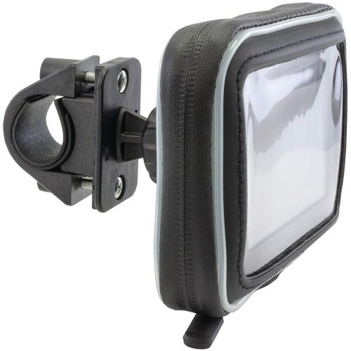 "Arkon Black Water Resistant Protective Case for 5"" GPS with Zip-Tie Style Strap Mount (GN034-SBH + WPCS5WS)"