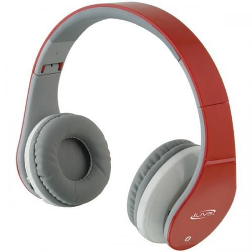 ILIVE BLUE iAHB64R Bluetooth(R) Headphones (Red)