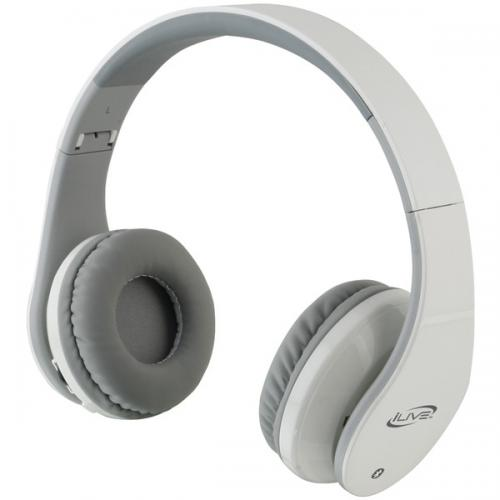 ILIVE BLUE iAHB64W Bluetooth(R) Headphones (White)