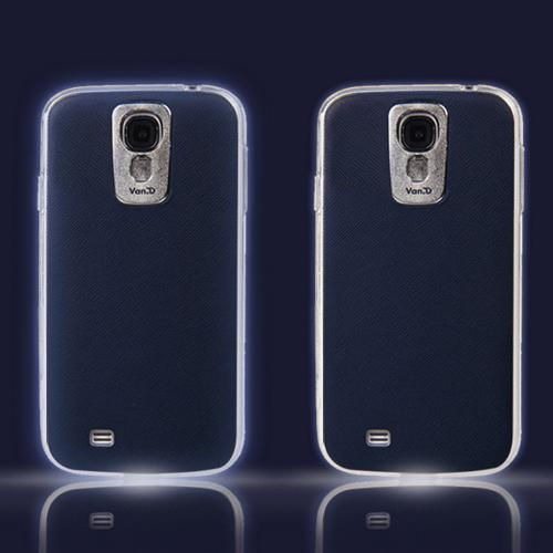 Dark Navy VanD Flashing LED TPU Case for Samsung Galaxy S4 - GS4-VDNP-NAVY (Lights up w/ Incoming Calls & Texts!)