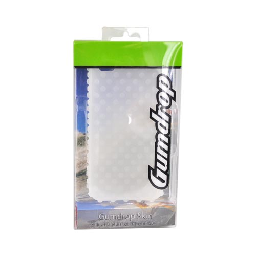 Original Gumdrop Apple iPhone 4 Silicone Case, GUMSKIN4G-CLR - Frost White