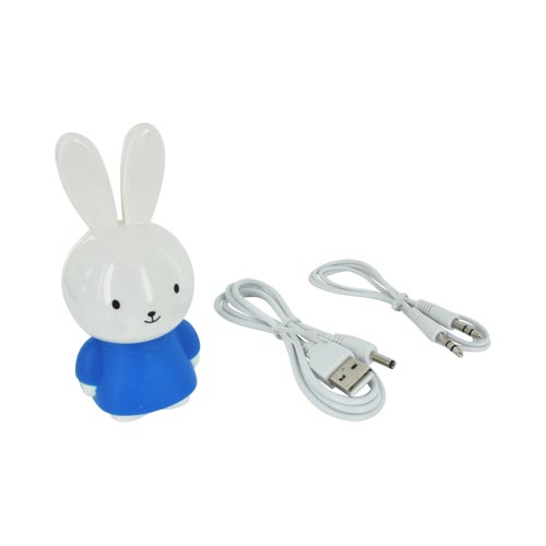 Universal Portable Bunny Speaker (3.5mm) - Blue