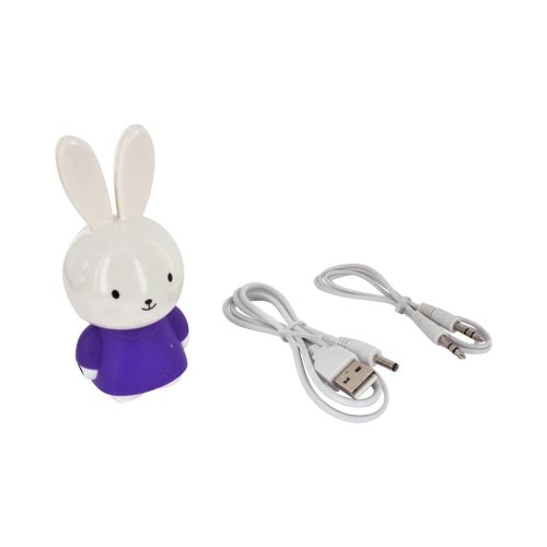 Universal Portable Bunny Speaker (3.5mm) - Purple