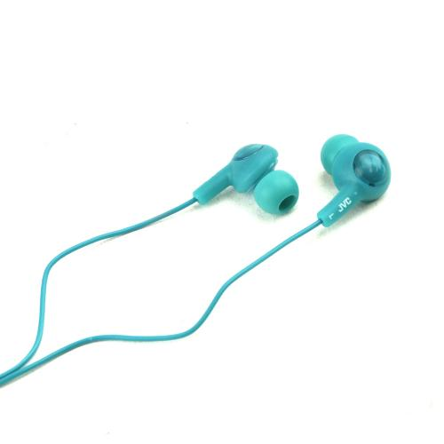 Original JVC Gummy Plus Universal Noise Cancelling Stereo Headphones (3.5mm), HA-FX5-G - Teal
