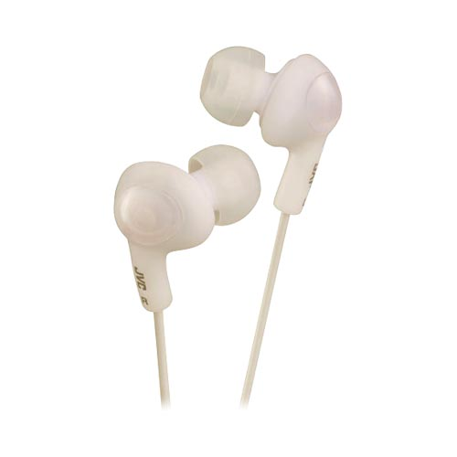 Original JVC Gummy Plus Noise Cancelling Stereo Headphones (3.5mm), HA-FX5-W - White