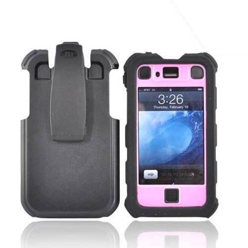 Original Ballistic Apple iPhone 4 HC Hard Case Combo w/ Holster, HA0421-M365 - Black/Pink
