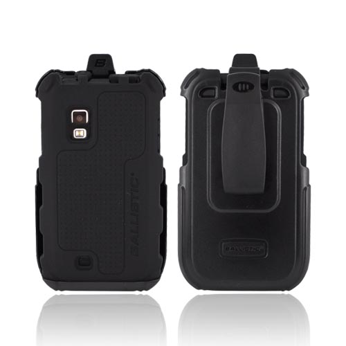 Original Ballistic Samsung Fascinate i500 HC Combo w/ Built-in screen Protector & Holster, HA0537-M005 - Black