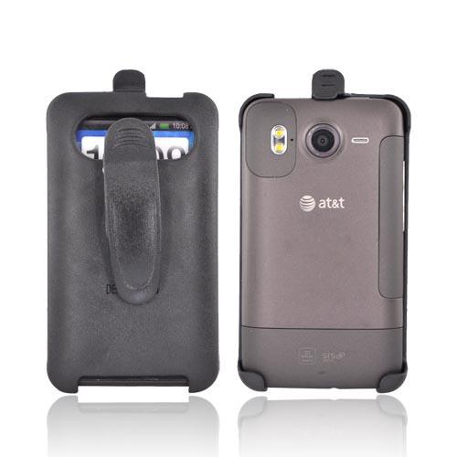HTC Inspire 4G Holster w/ Swivel Belt Clip (FACE-INWARD) - Black