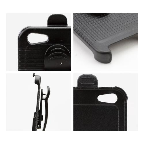Black Holster w/ Swivel Belt Clip for Apple iPhone 5/5S - XXIP5