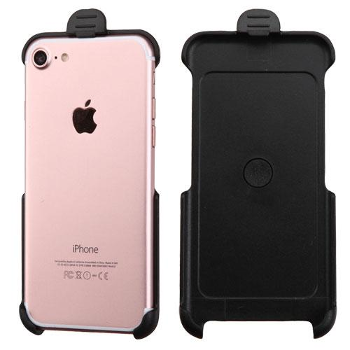Apple iPhone 6/ 6S Case,  [Black] Naked Supreme Protection Slim Matte Rubberized Hard Plastic Case Cover with Kickstand and Swivel Belt Clip