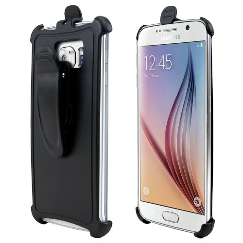 Samsung Galaxy S6 Holster, [Black] Supreme Protection Holster w/ Swivel Belt Clip
