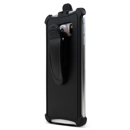Samsung Galaxy S6 Edge Holster, [Black] Supreme Protection Holster w/ Swivel Belt Clip