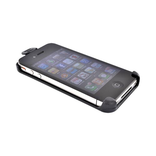 Premium Apple iPhone 4S, AT&T/Verizon iPhone 4 Holster w/ Swivel Belt Clip - Black