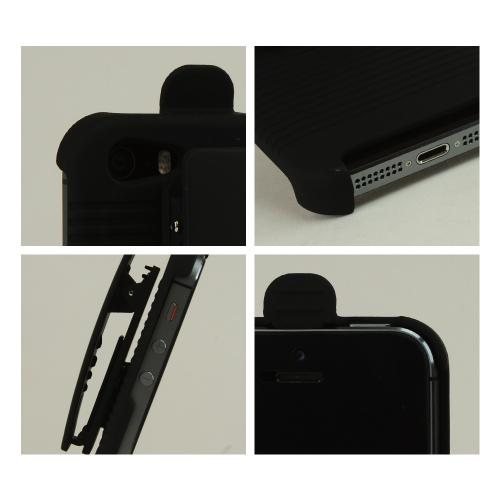Premium Apple iPhone 5/5S Holster w/ Swivel Belt Clip - Black