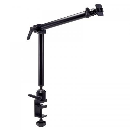 "Arkon Black Heavy Duty Pedestal - 22"" Aluminum Mounting Pedestal with Adjustable Center Joint and C-Clamp Base"