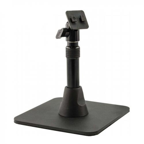 "Arkon Black Heavy Duty Pedestal - Weighted Base w/ Telescoping 7.5"" to 9.75"" Height Adjustable Shaft with Dual T-Tab Head"