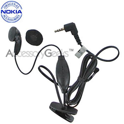 Original Nokia Earbud Headset w/ Answer/End Button (2.5mm) - Black