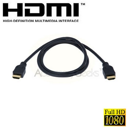 HDMI Cable 1080P 24K Gold Plated PS3 HDTV Plasma LCD TV Direct TV Blueray v1.3 - 3 feet