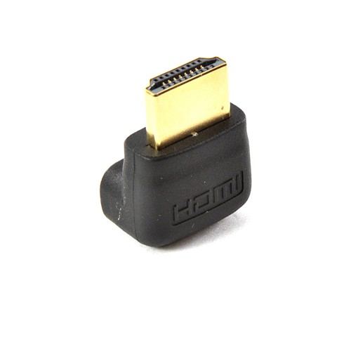 Black 90 Degree HDMI Port Saver (Male to Female)
