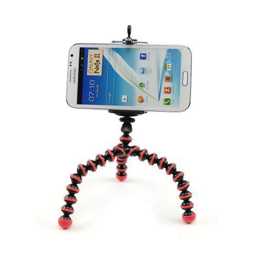 Red/ Black Universal Tripod w/ Flexible Octopus Legs