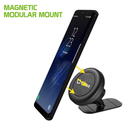 Black Universal Magnetic Suction Car Mount/ Holder for Phones/ MP3 Players