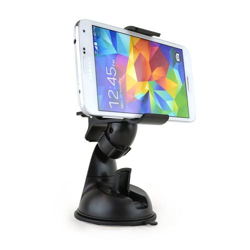 Black Phone/ MP3 Car Dash/ Windshield Mount w/ 360 Degree Rotation - Mount Your Device (Even Galaxy Note Size) w/ 1 Hand!