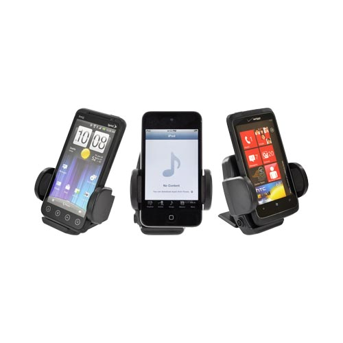 Black Dash/ Vent Mount Phone Holder for Apple iPhone 3G/3GS/4/4S/5 ONLY.