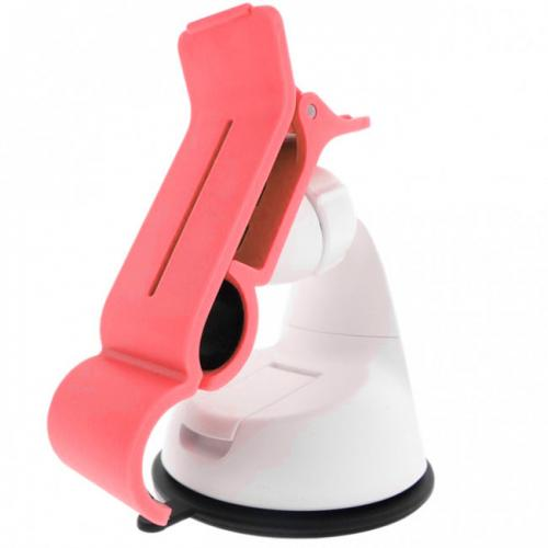 Melon Pink/ White Universal Phone/ MP3 Car Dash Mount w/ 360 Degree Rotation - Mount Your Device (Even Galaxy Note Size) w/ 1 Hand!