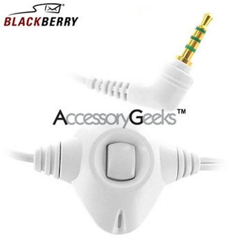 Original BlackBerry Stereo Headset (2.5mm) HDW-13019-003 - White