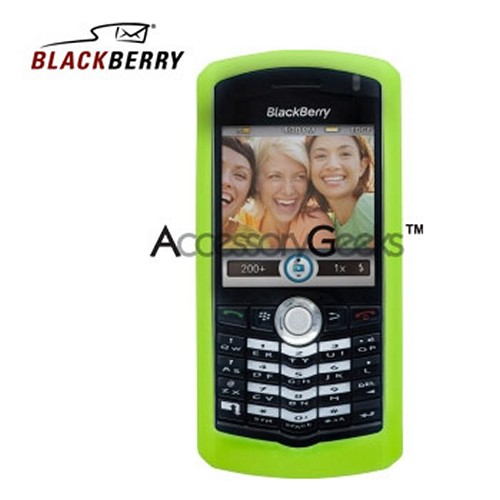 Original Blackberry Pearl 8100 Rubber Silicone Skin Case - Green