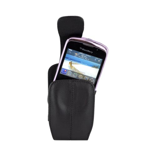 BlackBerry Curve 8330, 8320, 8310, 8300 Leather Swivel holster - Black HDW-13386-001 / HDW-15986-001
