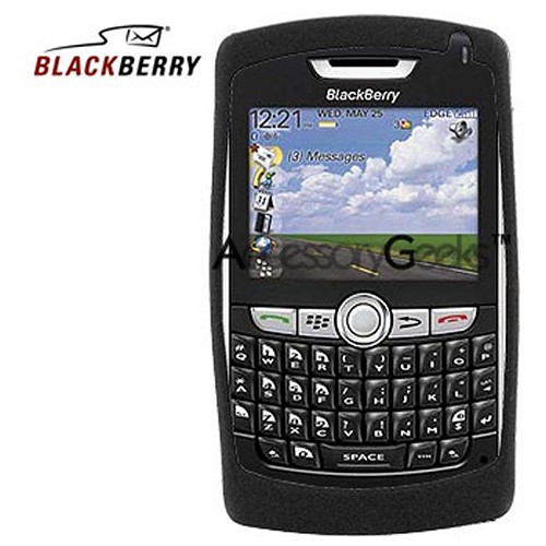 Original Blackberry 8800/8820/8830 Rubber Silicone Skin Case - Black