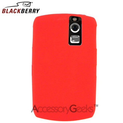 Original Blackberry Curve 8330, 8320, 8310, 8300 Rubber Silicone Skin Case - Red