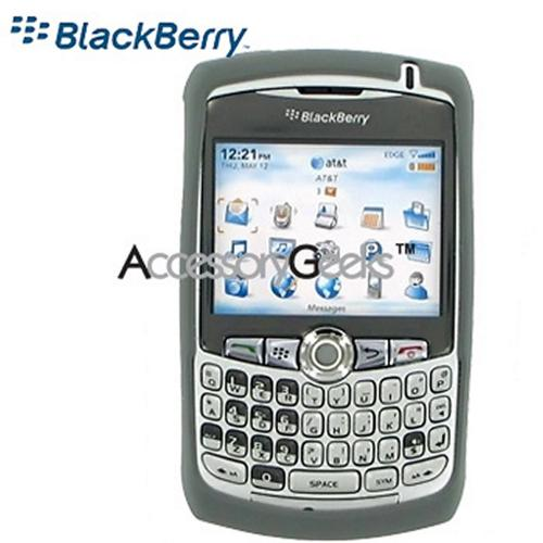 Original Blackberry Curve 8330, 8320, 8310, 8300 Rubber Silicone Skin Case - Dark Grey