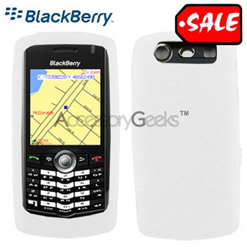 Original Blackberry Pearl 8120/8130 Rubber Silicone Skin Case - White