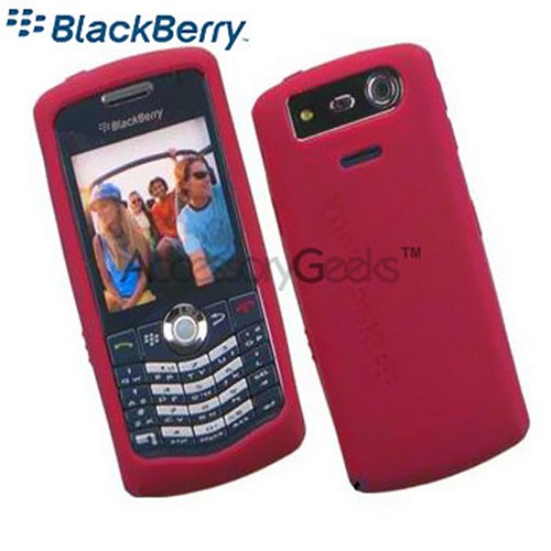 Original BlackBerry Pearl 8120/8130 Rubber Silicone Skin Case - Dark Red