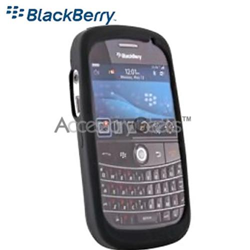 Original BlackBerry Bold 9000 Rubber Silicone Skin Case - Black