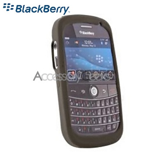 Original BlackBerry Bold 9000 Rubber Silicone Skin Case - Smoke Grey
