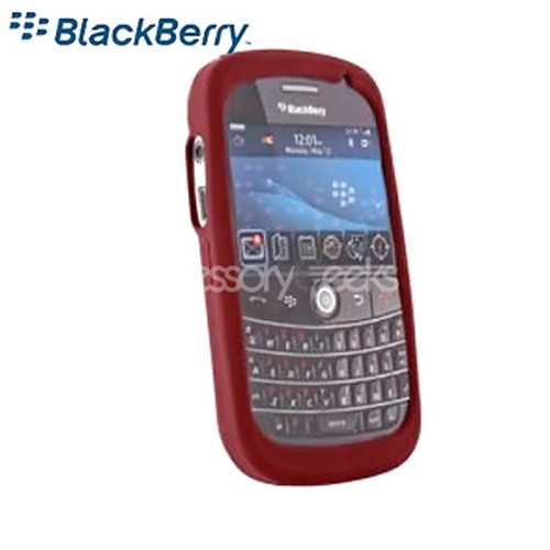 Original BlackBerry Bold 9000 Rubber Silicone Skin Case - Dark Red