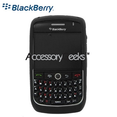 Original Blackberry Curve 8900 Silicone Case, Rubber Skin - Black