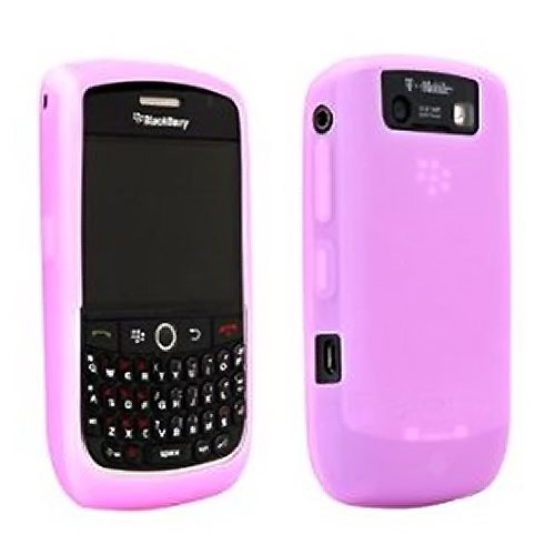 Original Blackberry Curve 8900 Silicone Rubber Skin Case, HDW-18963-006 - Pink