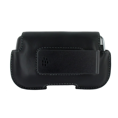 Original Blackberry Curve 8900 Leather Horizontal Holster Pouch Case, HDW-18965-001 - Black