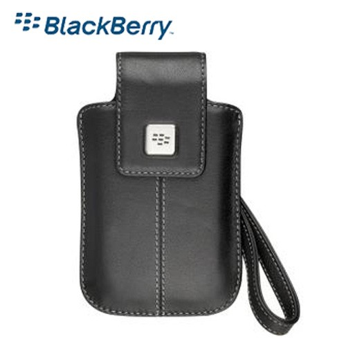 Original Blackberry Storm Leather Tote w/ Removable Carrying Strap - Black