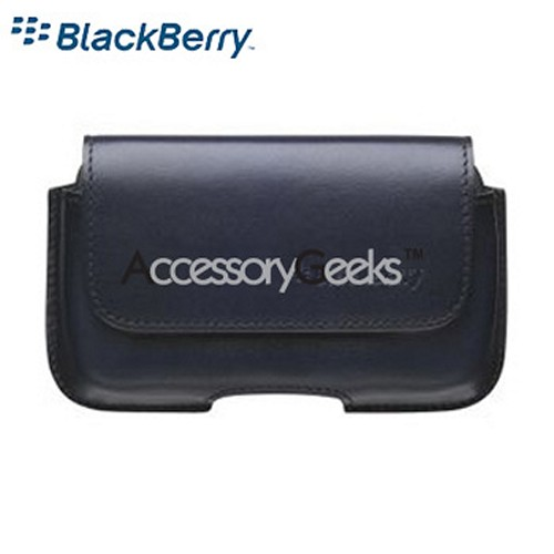 Original Blackberry Bold Horizontal Leather Holster - Black