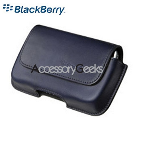 Original Blackberry Bold Horizontal Leather Holster, HDW-19593-004 - Navy Blue