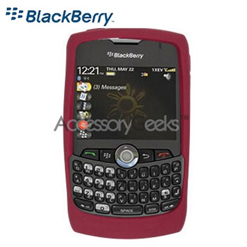 Original Blackberry Curve 8350i Rubber Silicone Skin Case - Dark Red