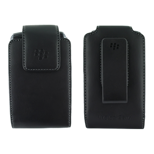 Original Blackberry Bold 9650 & Tour 9630 Swivel Holster Leather w/ Swivel Clip - Black