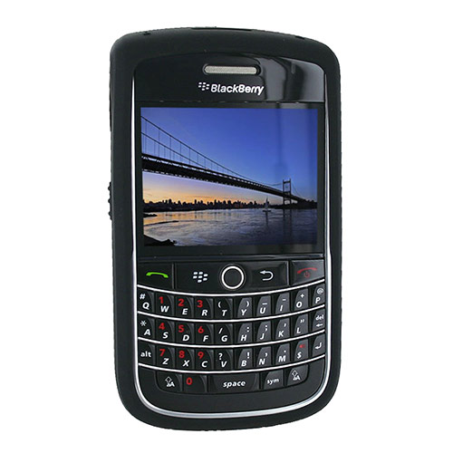 Original Blackberry Bold 9650 & Tour 9630 Silicone Case, Rubber Skin - Black